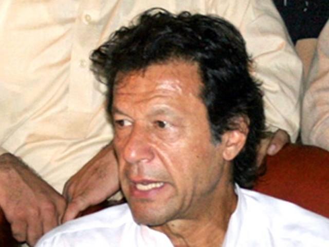 پاکستان تحریک انصاف کے چیئرمین عمران خان   فوٹو ایکسپریس