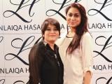 لائقہ حسن اور وردا سلیم، کراچی میں ایل ایچ لائقہ حسن سیلون اینڈ اسپا کا افتتاح۔ فوٹو: انسٹیشیا پی آر