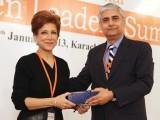 ناصرہ حسن اور عامر نیازی پانچویں بین الاقوامی وویمن لیڈرز سمٹ کراچی میں موجود ہیں۔ فوٹو: نیو ورلڈ کانسیپٹس