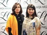 نورین ابرار حسن اور مائرہ، کراچی میں ایل ایچ لائقہ حسن سیلون اینڈ اسپا کا افتتاح۔ فوٹو: انسٹیشیا پی آر