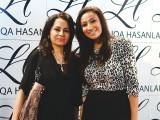 کوثر احمد اور انوشے، کراچی میں ایل ایچ لائقہ حسن سیلون اینڈ اسپا کا افتتاح۔ فوٹو: انسٹیشیا پی آر