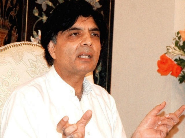 Ch. Nisar Suggested To Form a Committee To Investigate the Rigging in General Elections