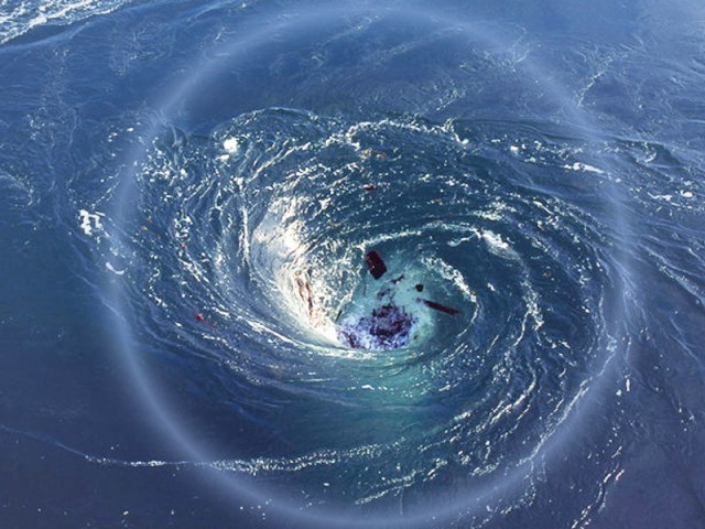 Black Hole In Ocean - Pics about space