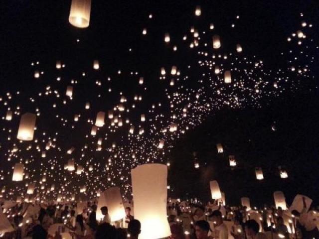 فلپائن کے لوگوں نے 185،15 لاٹین آسمان پر چھوڑ کر نیا گینز بک آف ورلڈ ریکارڈ قائم کردیا۔ فوٹو رائٹرز