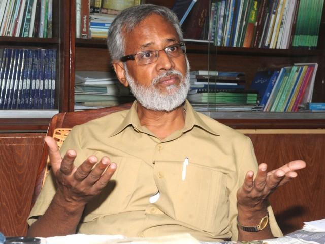 معروف اسکالر اور ڈین فیکلٹی آف اسلامک اسٹڈیز، کراچی یونیورسٹی، ڈاکٹر محمد شکیل اوج کے حالات و خیالات۔   فوٹو : فائل