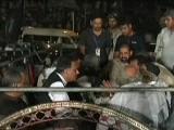 عوامی تحریک کی مذاکراتی کمیٹی میں سردار آصف، حامد رضا، رحیق عباسی اورغلام مصطفی کھرشامل ہیں۔  فوٹو؛ ایکسپریس نیوز