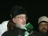 ظالم اور جابر حکمرانوں سے نجات کے لئے اسلام آباد آئے ہیں، طاہرالقادری  فوٹو؛ ایکسپریس نیوز