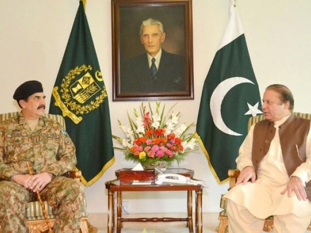 وزیر اعظم اور آرمی چیف کے درمیان ایک گھنٹے طویل ملاقات ہوئی۔ فوٹو: فائل