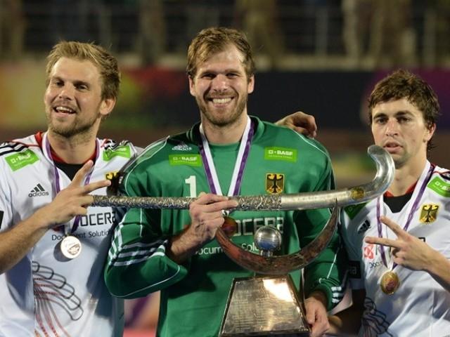 ہاکی چیمپئنز ٹرافی کے فائنل میں جرمنی نے پاکستان کو 0-2 سے ہرایا۔   فوٹو: اے ایف پی