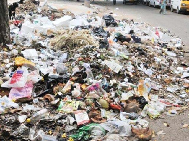 شہر میں یومیہ 12ہزارٹن کچرا پیدا ہوتا ہے،ایک ہزار تا4ہزار ٹن کچرا صاف کیا گیا  فوٹو: فائل