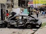 عراقی شہر بغداد کے وسط میں تین علاقوں میں کار بم دھماکوں میں چھ افراد لقمہ اجل بنے ہیں۔ فوٹو: اے ایف پی
