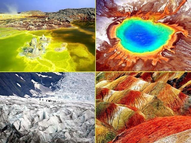 پہلی بار دیکھنے والوں کو تو یقین نہیں آتا کہ یہ قدرتی مناظر زمین کا حصہ ہیں یا پھر کسی اور سیارے سے ہماری زمین پر اتر آئے ہیں۔ فوٹو: فائل