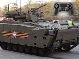 Kurganets-25 در حقیقت انفنٹری فائٹنگ وہیکل ہے، اس میں ٹینک اور آرمرڈ ٹرک دونوں کی خصوصیات شامل ہیں ۔ فوٹو : فائل