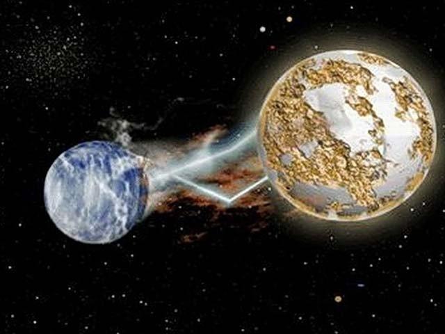 زمین سورج کے گرد گھومتی ہے لیکن اس کشش میں بھی ایسا توازن ہے کہ زمین سورج سے نہیں ٹکراتی بلکہ ایک مخصوص فاصلے پر رہتی ہے۔