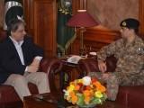 گورنر ہاؤس میں کور کمانڈر کراچی نے گورنر سندھ سے ملاقات کی:فوٹو فائل