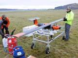 پہلے تجربے میں ڈرون نے صرف 10 منٹ پرواز کی اور روایتی طیاروں کے مقابلے میں اس کے ایندھن کا وزن ایک تہائی تھا۔ فوٹو: بشکریہ اسکاٹش ایسوسی ایشن آف مرین سائنسس