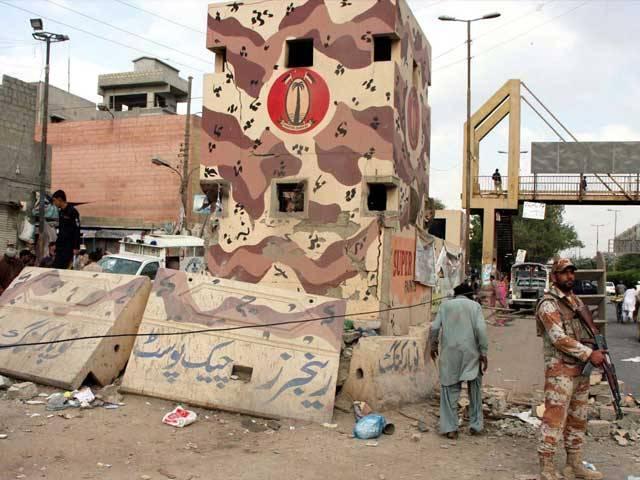 حملے میں چوکی کی دیوار کو نقصان پہنچا تاہم کوئی جانی نقصان نہیں ہوا۔ فوٹو: آن لائن/فائل