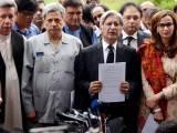 پاناما لیکس کے معاملے پر چیف جسٹس آف پاکستان کی سربراہی میں ایک آزاد کمیشن تشکیل دیا جائے،مشترکہ اپوزیشن کا مطالبہ فوٹو:آئی این پی