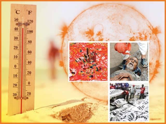 کراچی میں گرمی کی لہر کی وجوہات کیا ہیں؟ آئندہ کے خدشات، بچاؤ کی تدابیر ۔  فوٹو : فائل
