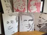 کینیڈا کی خاتون آرٹسٹ کینوس پر اپنے ہونٹوں کے نشانات ثبت کرکے حقیقت سے قریب تر فن پارے تخلیق کرتی ہیں۔ فوٹو: ایلیکسس فریزر