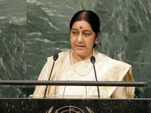 بھارت نے پاکستان سے مذاکرات کے لئے کبھی کوئی شرط نہیں رکھی، بھارتی وزیرخارجہ. فوٹو: فائل
