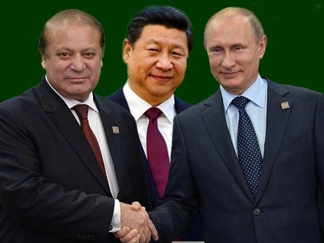 Image result for پاکستان روس چین