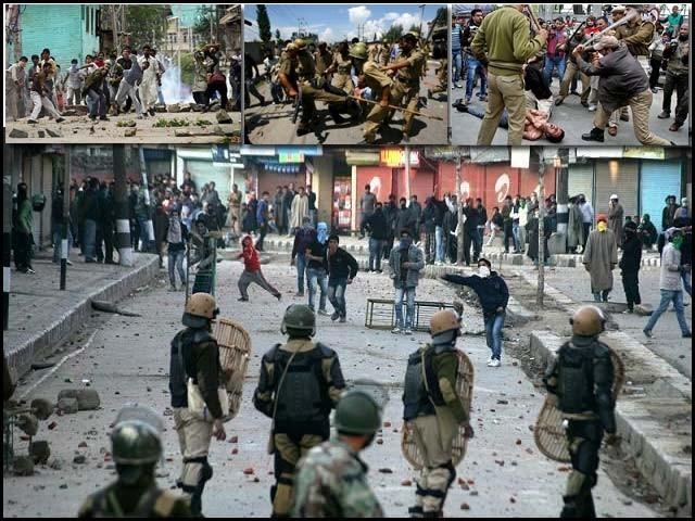 مودی سرکار نے تشدد کا حربہ آزمانے کی کوشش کی اور کشمیری رہنماؤں کی گرفتاریوں کا سلسلہ شروع کر دیا۔ فوٹو : فائل