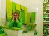 خاتون کے گھر کے پردے، تکیوں کے غلاف، برتن، کرسیاں اور صابن تک کا رنگ سبز ہے۔