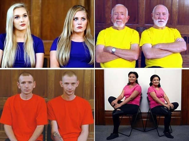 چینل پر ایسے مردوخواتین کو دکھایا گیا جن کی شکلیں آپس میں تو ملتی ہیں لیکن وہ ایک دوسرے سے ناواقف ہیں۔ بشکریہ چینل فور
