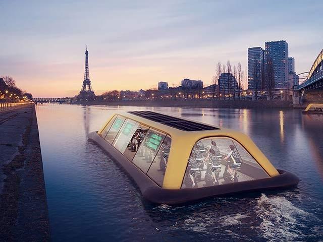 کشتی نما یہ جمنازیم لوگوں کو ورزش کی طرف راغب کرنے کے لیے بنایا گیا ہے۔  فوٹو: بشکریہ کارلو راٹی
