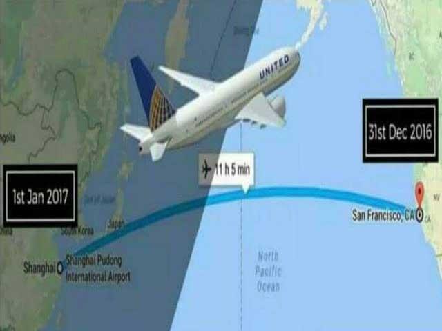 یہ پرواز مستقبل کے بجائے ماضی میں پہنچ گئی لیکن یہ سب کچھ صرف ٹائم زون میں فرق کی وجہ سے ہوا۔ (فوٹو: فائل)
