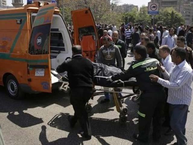 دھماکے میں 8 اہلکار زخمی بھی ہوئے۔غیرملکی خبررساں ایجنسی فوٹو:فائل