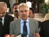 پاکستان کی سیاست میں جتنے رنگ اور موقف عمران خان نے بدلے ہیں اتنے کسی نے نہیں بدلے، سعد رفیق۔ فوٹو : فائل