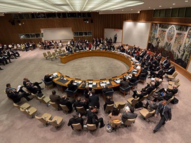 سلامتی کونسل نے عالمی برادری سے سی پیک کی تکمیل کے لئے کوششیں مزید تیز کرنے کی اپیل بھی کی۔ فوٹو: فائل