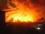اسلحہ ڈپو میں ہونے والا دھماکے تخریب کاری کا نتیجہ بھی ہو سکتے ہیں، یوکرین حکام۔ فوٹو: سوشل میڈیا