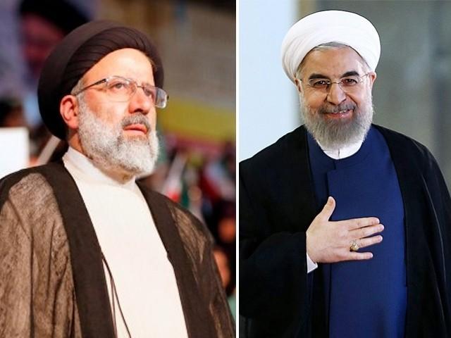 حسن روحانی اور قدامت پرست ابراہیم رئیسی کے درمیان کانٹے کا مقابلہ جاری ہے جس کا فیصلہ اگلے 24 گھنٹوں میں متوقع ہے۔ (فوٹو: فائل)