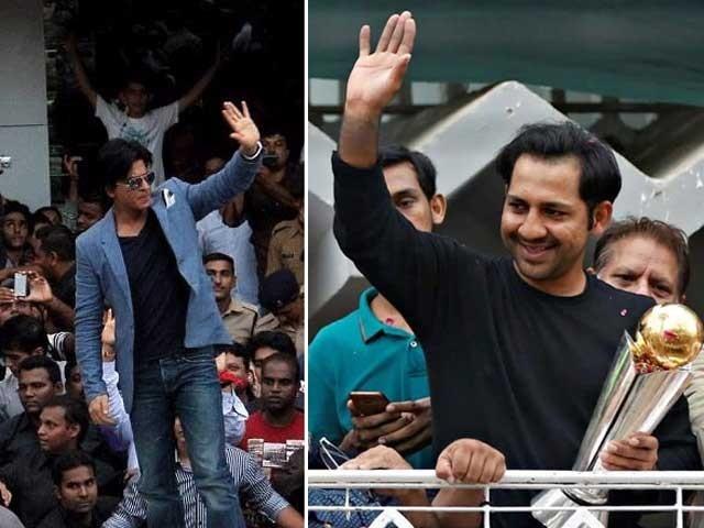 پاکستان نے سرفراز کی قیادت میں بھارت کو چیمئنز ٹرافی کے فائنل میں شکست دی تھی۔ فائل: فوٹو