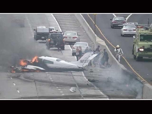 جان وین ائرپورٹ سے اڑان بھرنے کے چند ہی لمحوں بعد طیارے کا ایک انجن خراب ہوگیا۔ فوٹو: انٹرنیٹ