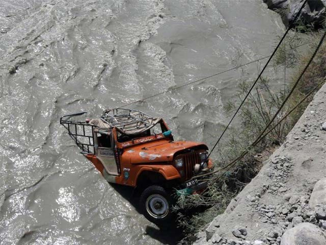 Pakistan News - Jeep Fall Down in Chitral River Killed 7