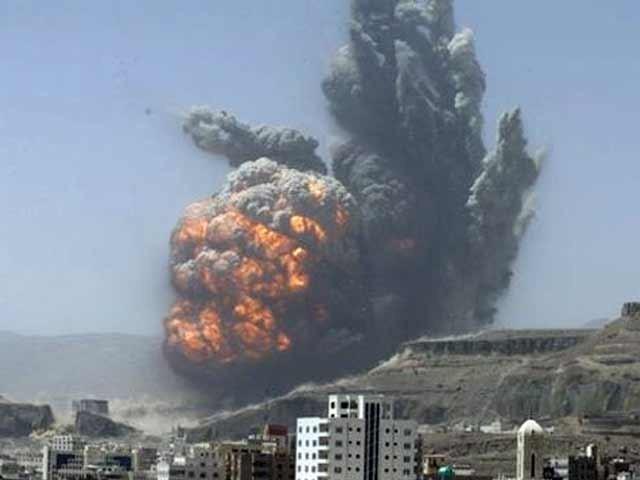 سعودی اتحاد نے یو این کی پرواز روک دی، جہاز امدادی کارکنوں اور اخباری نمائندوں کو لینے جارہا تھا،صنعا ہوائی اڈہ پر باغیوں کا قبضہ فوٹو؛ فائل
