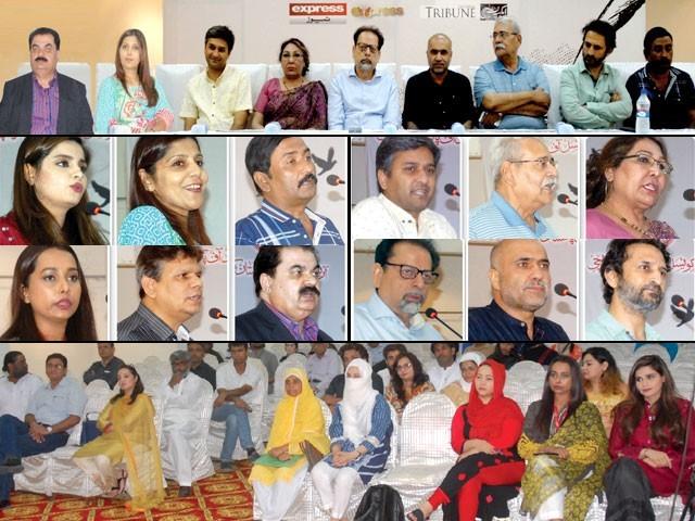 ''ایکسپریس اِنک'' کے تحت ''عصر ِحاضر اور ڈرامہ نگاری'' کے موضوع پر کراچی میں منعقدہ سیمینار کی رپورٹ۔ فوٹو: ایکسپریس