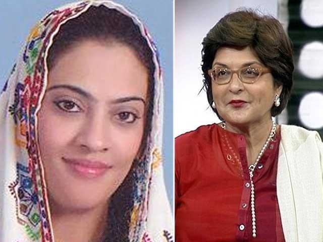 عدالت کا نادیہ گبول اور فرح ناز اصفہانی کو گرفتار کرکے یکم ستمبر تک پیش کرنے کا حکم فوٹو: فائل