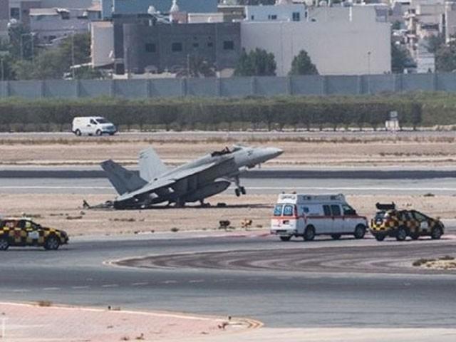 کریش لینڈنگ کی وجہ سے طیارے کو جزوی نقصان پہنچا جبکہ پائلٹ محفوظ رہا — فوٹو : سوشل میڈیا