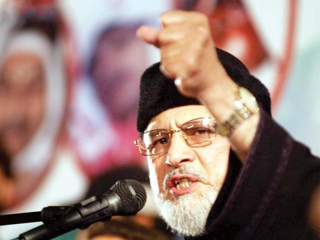 ریاستی اداروں کے خلاف اعلان جنگ کرنیوالے نااہل شخص نے اداروں کو تباہ و برباد کیا،سربراہ پاکستان عوامی تحریک . فوٹو :فائل