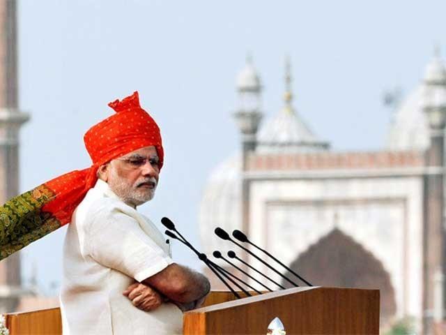 ہم نے سرجیکل اسٹرائیکس کیں تو دنیا نے ہماری طاقت کو تسلیم کیا، نریندر مودی کا لال قلعہ میں خطاب۔۔ فوٹو: نیٹ