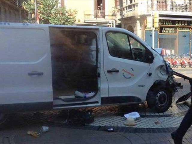 پولیس نے واقعے کو دہشت گردی قرار دیدیا۔ فوٹو: سوشل میڈیا