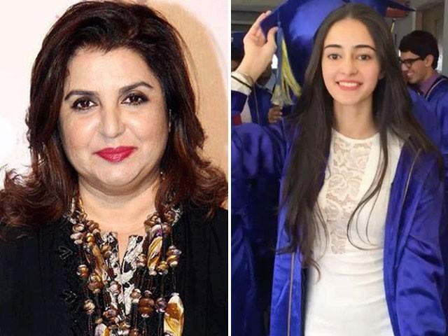 انانیا پانڈے چنکی پانڈے کی ہی بیٹی ہیں یہ جاننے کے لیے ڈی این اے ٹیسٹ کرایا جائے، فرح خان ۔ فوٹو : فائل