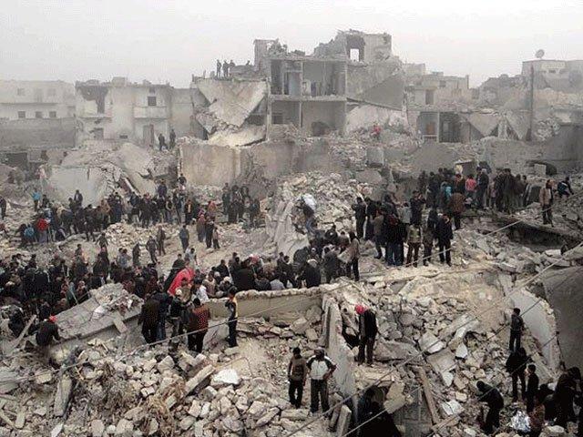 شامی صدردمشق میں اجتماع سے خطاب کررہے تھے،تقریر ختم کرتے ہی عمارت کوراکٹ سے نشانہ بنایا گیا،5 افراد ہلاک ہوئے۔ فوٹو: فائل
