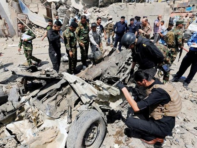 دھماکے کے نتیجے میں 28 افراد زخمی بھی ہوئے۔ فوٹو : فائل