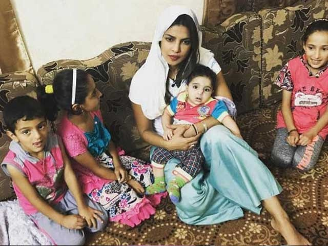 پریانکا چوپڑا نے اردن کی حکومت کو شامی بچوں کی مدد کرنے پر سراہا؛فوٹوفائل